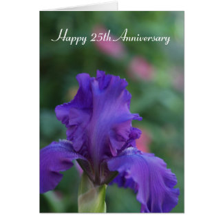 Iris 25th Anniversary Card