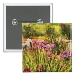 Iris - A Tribute to Monet Button