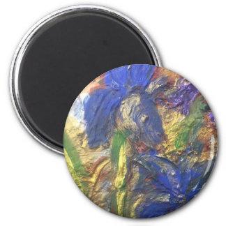 Iris Abstract Magnet