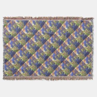 Iris Abstract Throw Blanket