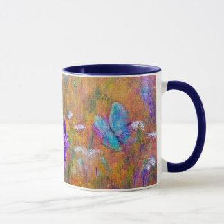 """""""Iris and Butterfly Garden"""" MUG Floral"""