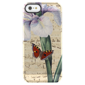 iris and butterfly music clear iPhone SE/5/5s case