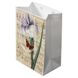 iris and butterfly music medium gift bag