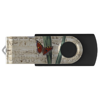 iris and butterfly music USB flash drive