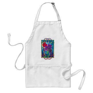 Iris and sun standard apron