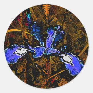 Iris Artwork Classic Round Sticker