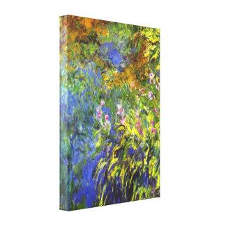 Iris at the sea  by Claude Monet Canvas Print