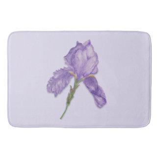 Iris, Bearded Purple Iris Bath Mat
