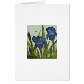 Iris Blank Greeting Card