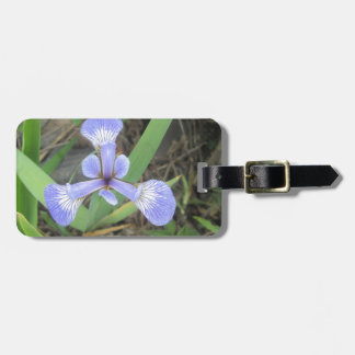 Iris Blue Flag Flower Bag Tag