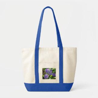 Iris, Blue, Impulse Tote Bag in Navy