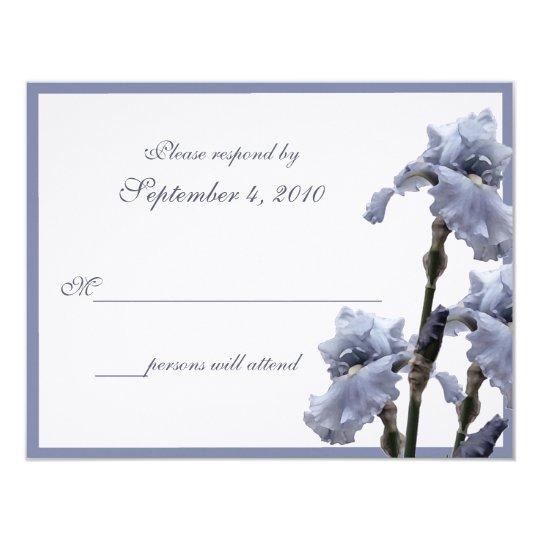 Iris Bouquet/ Blue Card