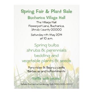 Iris bucharica plant sales or fair 21.5 cm x 28 cm flyer