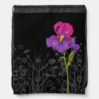 Iris * choose background color drawstring bag