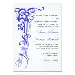 Iris & Dragonfly Royal Blue Wedding Invitation 13 Cm X 18 Cm Invitation Card