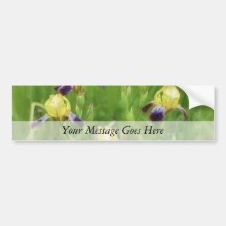 Iris Field Car Bumper Sticker