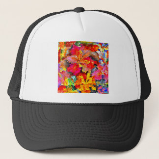 Iris Floral Abstract Trucker Hat