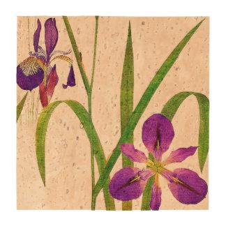 Iris Floral Flowers Botanical Cork Coaster