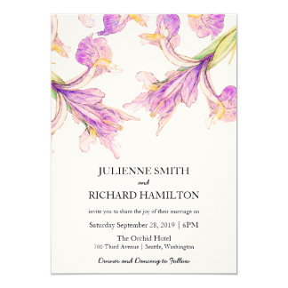 Iris Floral | Rustic Botanical Wedding Invitations