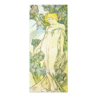 "Iris Flower 4"" X 9.25"" Invitation Card"