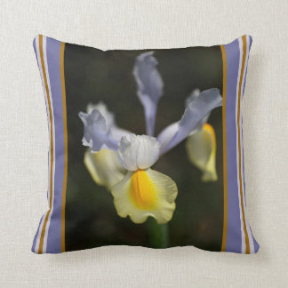 Iris Flower and Design Pillow by bubbleblue Throw Cushions