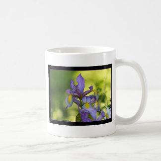 Iris flower basic white mug