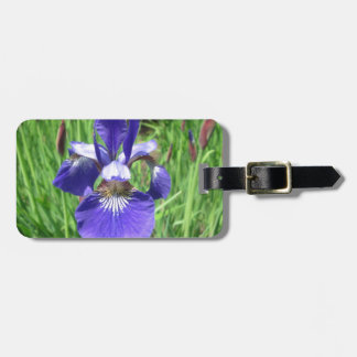 Iris Flower Blue Flag Luggage Tag