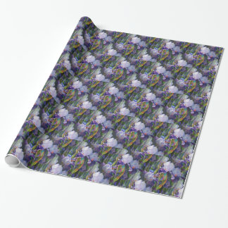 Iris Flower Garden Wrapping Paper
