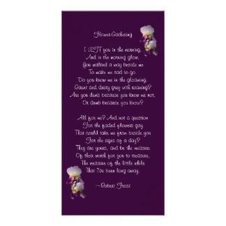 Iris Flower-Gathering Poetry Card Personalised Photo Card