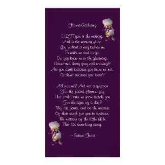 Iris Flower-Gathering Poetry Card Photo Card