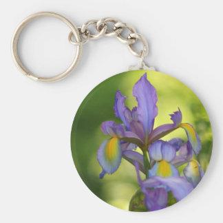 Iris flower keychain