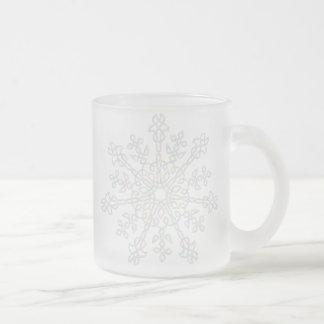Iris Flower Knot 10 Oz Frosted Glass Coffee Mug