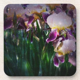 Iris Flowers Cork Coaster