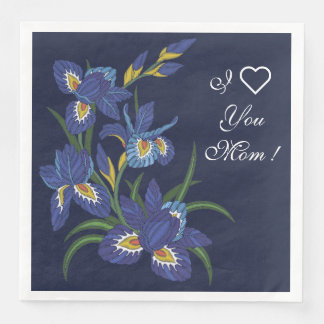 Iris Flowers Disposable Serviettes