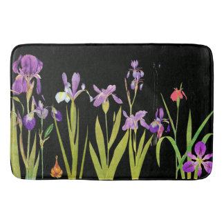 Iris Flowers Floral Garden Bath Mat