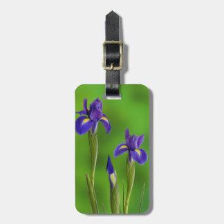 Iris Flowers Luggage Tag