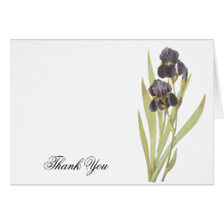 Iris Flowers Thank You Greeting Cards
