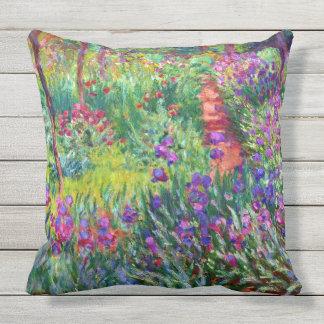 Iris Garden at Giverny Claude Monet Fine Art Throw Pillow
