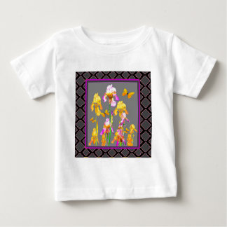 Iris garden Black-Grey lattice Pattern Art Baby T-Shirt
