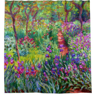 Iris Garden Claude Monet Fine Art Shower Curtain