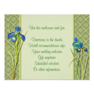 Iris Garden Enclosure Card 11 Cm X 14 Cm Invitation Card