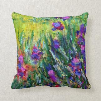 Iris Garden in Giverny Claude Monet Fine Art Throw Pillow