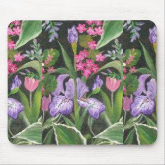Iris Garden Mouse Pad