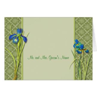 Iris Garden Note Card