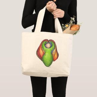 Iris, Goddess of the Rainbow Large Tote Bag