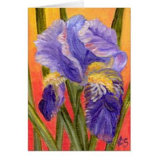 Iris Heat Note Card