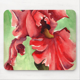 Iris in Watercolor - Mouse Pad by WithAnF Fine Art