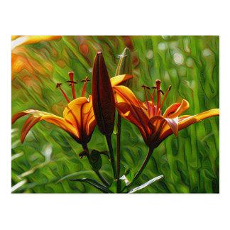 Iris, Lilly, Lily, DeepDream style Postcard