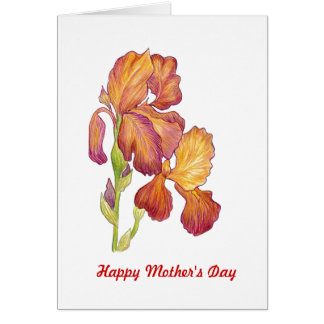 Iris Mother's Day Card