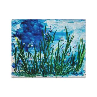 Iris on the Water Edge Canvas Print